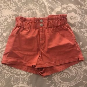 Cotton high waisted shorts